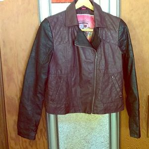 Bernardo Collection B Faux Leather Jacket M